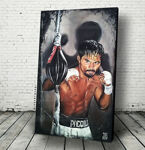 "JEREMY WORST ""Manny Pacman Pacquiao"" Canvas WALL Art boxing Champ Champion Boxer"