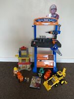 Bob The Builder Toys, Workshop, Dvd Figures Bundle Great Gift