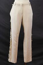 NWT $1610 Brunello Cucinelli Women's Sequined Dress Pants Silk Blend Sz 42/6 US