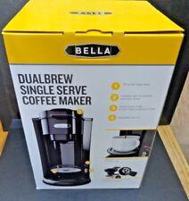Bella Single Serve K-Cup or Ground Coffee Maker NIB