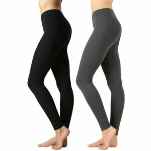 Zenana Womens NIB Premium Cotton High Waist Full Ankle Length Leggings