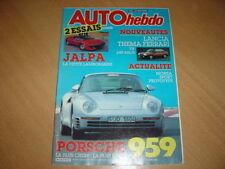 Auto hebdo N°519 Porsche 959.Lamborghini Jalpa