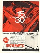 Publicité 1963  HOOVERMATIC machine à laver lave linge