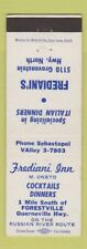Matchbook Cover - Frediani Inn Forestville CA