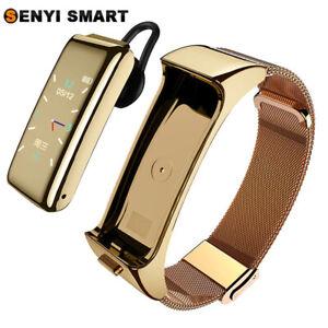 Men's and women's Bluetooth headset color screen smart bracelet sports multi-fun