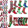 12 Pairs Mens, Ladies, Kids Novelty Christmas Socks Santa Gift Xmas Stocking NEW
