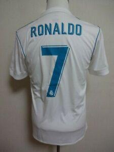 Real Madrid #7 Ronaldo 100% Original Jersey M 2017-18 Home Good Condition