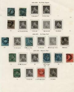 BARBADOS: 1852-1874 Examples - Ex-Old Time Collection - Album Page (38823)