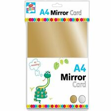 8 X A4 Sheets Gold & Silver Mirror Card Metallic Shiny Thick Board Craft PVO/6