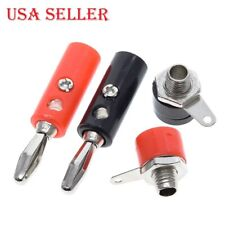 2 Sets - Male and Female J072 4mm Banana Plug Connector - Red and Black