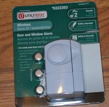 Utilitech New Wireless Door and window alarm 2 Sounds Free Shipping Battery incl