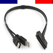 """Câble Adaptateur Convertisseur HDD 2.5"""" Sata / SSD en eSATA   Neuf"""