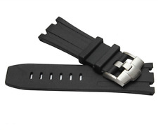 28mm Black Silicone Rubber Watch Band Strap For Audemars Piguet Royal Oak Diver