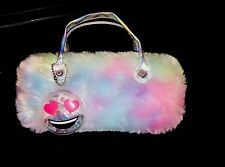 Girls Faux Fur Sunglasses Cass With Handle And Love Emoji � Charm For Kids
