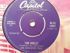 THE KINGSTON TRIO  : TOM DOOLEY : (VG.Cond.) See photo's...