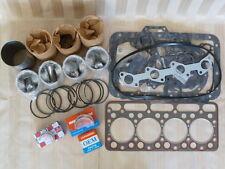 Kubota V1902DI Engine Overhaul Kit/Liners, Pistons, Rings, Bearings, Gasket Set