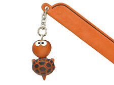 Turtle Leather Charm Bookmarker *VANCA* Made in Japan #61319