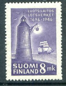 Finland Stamps Scott #252 Lighthouse 1946 MLH