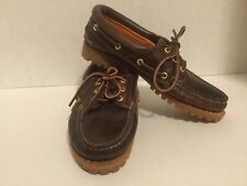 Timberland Heritage Noreen 3 Eye Boat Shoes Brown Leather 8211A Womens Sz 6.5