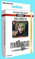 FINAL FANTASY VII TRADING CARD GAME STARTER DECK Fire & Earth NEW SEALED TCG Set