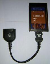 Vintage Motorola Montana PCMCIA 33.6 Modem PC Card + Dongle Cable
