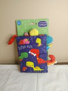Dino Fun - A Cloth Book with Touch and Feel Tabs to Explore!  New