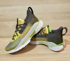 Kids UNDER ARMOUR Curry 7 Our History Sz Youth 3.5 Zeppelin Yellow Basketball