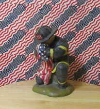2002 The American History MInt  'Enduring Spirit'  9-11 Firefighter figurine