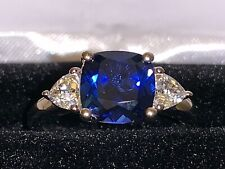 *NEW ITEM* BEAUTIFUL Kay Jewelers Sterling Silver Blue Sapphire Ring (Size 7)