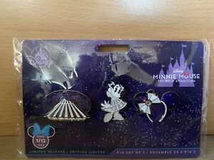 Disney Minnie Mouse The Main Attraction Space Mountain Pins. January 1/12.