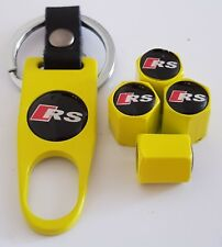 AUDI RS Wheel Valve Dust caps Alloy Spanner Keychain Boxed yellow 50% OFF S LINE