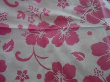 NEW POTTERY BARN KIDS PINK HIBISCUS TROPICAL HAWAIIAN TWIN DUVET COVER