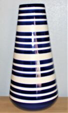 Next Bretton Vase Large Blue Striped Vase 51 x 24 cm Ceramic