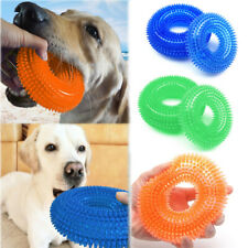 Dog Chew Ball Toy Rubber Dental Clean Teeth Healthy Treat Teething Cleaning Toys