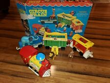 Vintage Fisher Price Little People Play Family Circus Train #991 with Box 1973