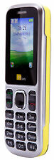 TTsims TT130 Dual Sim Mobile Phone - Yellow EE PAYG Cheap Bluetooth Camera Torch