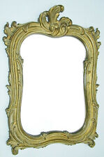 Heavy Antique Hand Carved Wood Gold Frame 10 14 Picture Mirror Vtg  Scroll Leaf