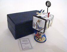 KELVIN CHEN Enamel Stamp Mailbox Hinged Box Butterflies and Flowers ES0036