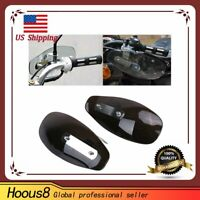 Universal Set Motorcycle Smoke Hand Guard Wind Deflector For Harley Yamaha Honda
