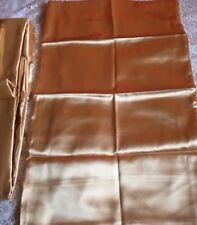 ROYAL Luxus Glanz Satin Spannbettlaken in Gold 1x90-100x200 cm 1x 50x80 cm Neu
