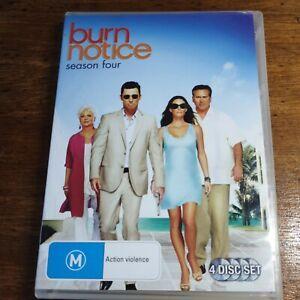 Burn Notice Season 4 DVD R4 LIKE NEW FREE POST