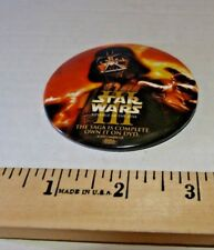 Star Wars Episode III 3: Revenge Of The Sith pin back button DVD promo Free/ship