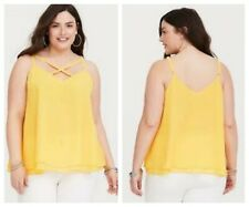 6e40f23ede9 Torrid Yellow Double Layer Chiffon Swing Cami 5x 28  84928