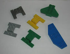 Lego Duplo Airplane Helicopter Skids Base Parts Wing Shapes - Lot 6 Pieces Plane