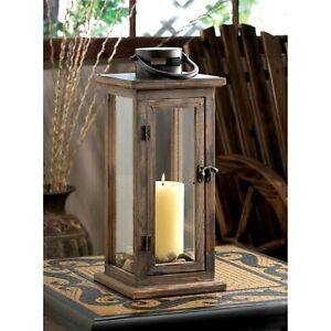 Perfect Lodge Wooden Candle Lantern