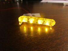 1/24 Flashing ALL AMBER LED Low Profile Lightbar for Custom Police Diecast Model