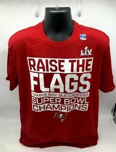 Tampa Bay Buccaneers Red Super Bowl LV Champions Parade Celebration T-shirt