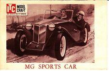 MG Sports Car ITC Model Craft Vintage Brochure