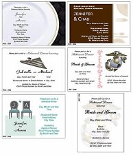 25 Wedding Rehearsal Invitations Dinner Flat Card size 5X4 Envelope Chair color
