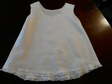 ANTIQUE WHITE BABY SLIP WITH LACE TRIM, V, G. CONDITION,  CIRCA 1940